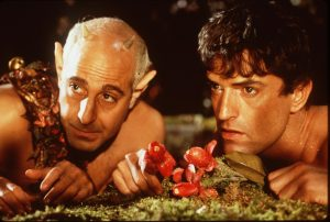 "1999 Stanley Tucci And Rupert Everett Star In The Movie ""William Shakespeare's A Midsummer Night's Dream."" (Photo By Getty Images)"