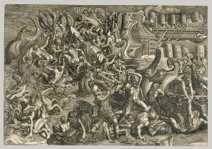 Working Title/Artist: Giovanni Battista Scultori, Naval Battle between the Trojans and Greeks Department: Drawings & Prints Culture/Period/Location: HB/TOA Date Code: Working Date: photography by mma, 30E_CP52R3M_cv scanned and retouched by film and media (jn) 2_2_04
