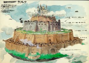 Concept Art for Laputa: Castle in the Sky